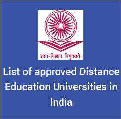 List of approved Distance Education universities in India