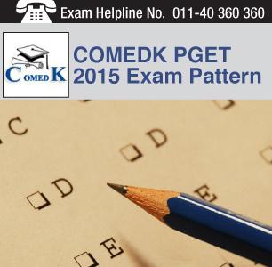 COMEDK PGET 2015 Exam Pattern