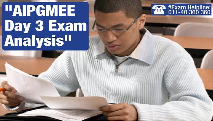 AIPGMEE 2014 Day 3 Exam Analysis