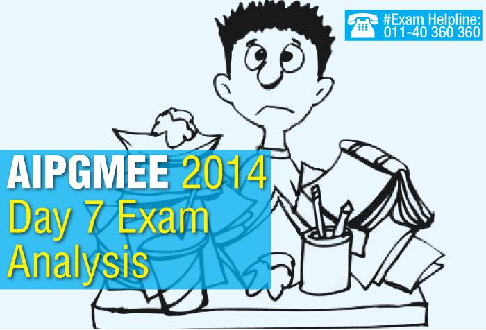 AIPGMEE 2014 Day 7 Exam Analysis
