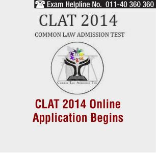 CLAT 2014 Online Application Begins