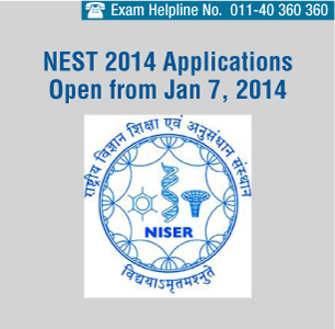 NEST 2014 Registration Starts from Jan 7, 2014 - Apply Online