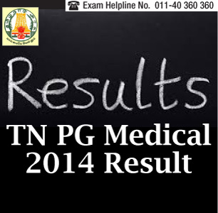 TN PG Medical Entrance 2014 Result