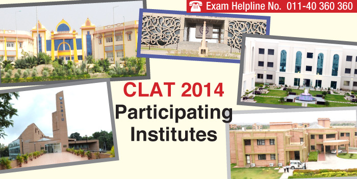 CLAT 2014 Participating Institutes