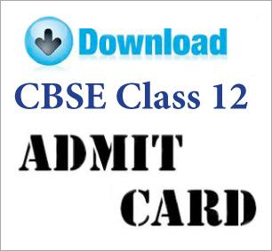 CBSE 2014 Admit Card Class 12