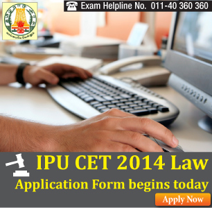 IPU CET Law 2014 Online Application Begins from Feb 5 - Apply Online