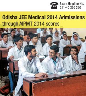 Odisha JEE Medical 2014 admissions through AIPMT 2014 scores