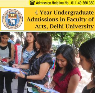 DU Admission 2014 B.A. (Hons.)