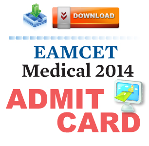 EAMCET Medical 2014 Admit Card