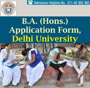 DU Admission Form 2014 B.A. (Hons.)