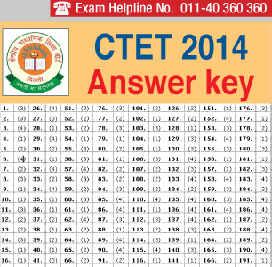 CTET 2014 Answer Key