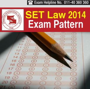 SET Law 2014 Exam Pattern