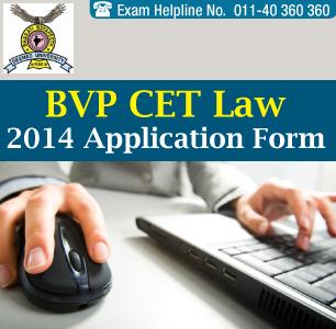 BVP CET Law 2014 Application Form