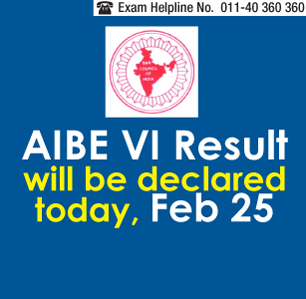 AIBE VI 2014 Result to be announced today on Feb 25
