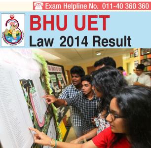 BHU LLB Entrance Exam 2014 Result