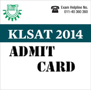 KLSAT 2014 Admit Card