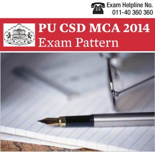PUCSD MCA Entrance Exam Pattern 2014