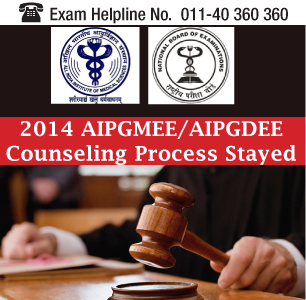 Supreme Court of India stayed AIPGMEE and AIPGDEE 2014 Counselling