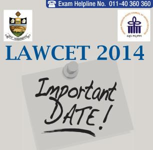 LAWCET 2014 Important Dates