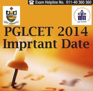 PGLCET 2014 Important Dates