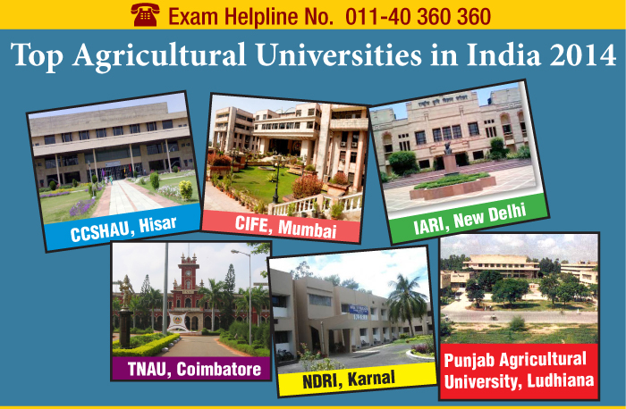 Top Agricultural Universities in India 2014