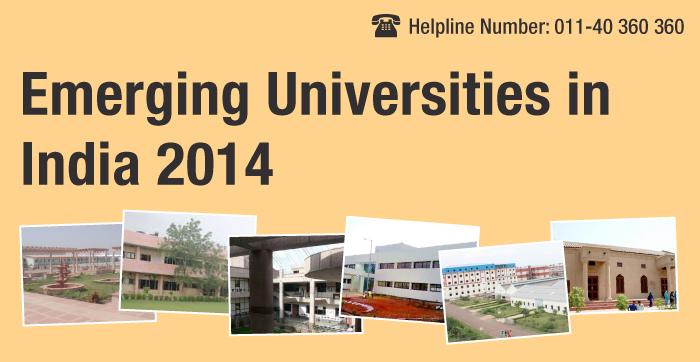 Emerging Universities in India 2014
