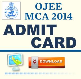 OJEE MCA 2014 Admit Card