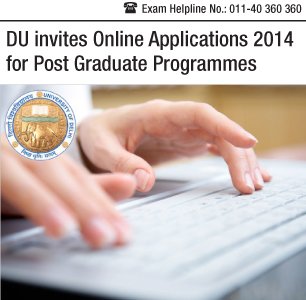 DU invites PG Applications 2014