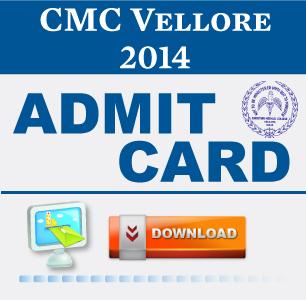 CMC Vellore MBBS 2014 Hall Ticket