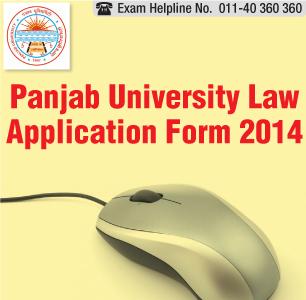 Panjab University LLB 2014 Application Form