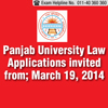 Panjab University LLB 2014 Application Form is available from March 19