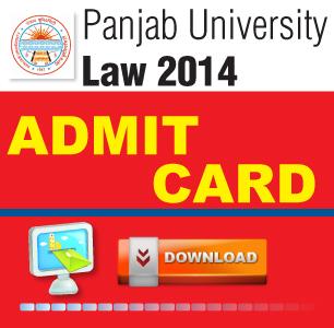 Panjab University LLB Entrance Exam 2014 Admit Card