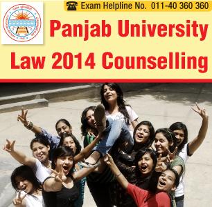 Panjab University LLB Entrance Exam 2014 Counselling