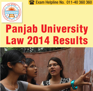 Panjab University LLB Entrance Exam 2014 Result