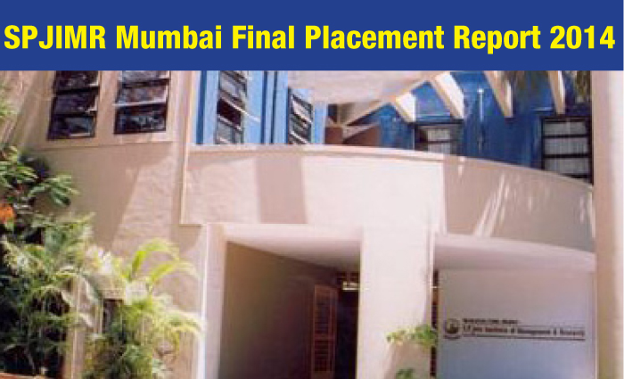 SPJIMR Mumbai Final Placement Report 2014: 228 students recruited by 101 companies
