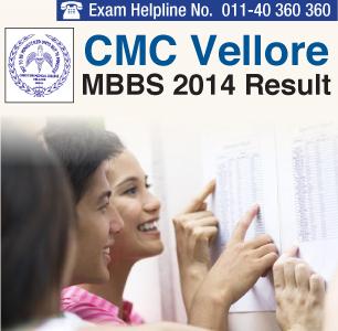 CMC Vellore MBBS 2014 Result