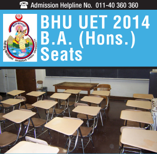 BHU UET 2014 BA (Hons.) Seats