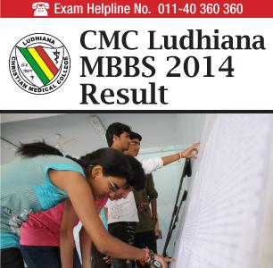 CMC Ludhiana MBBS 2014 Result