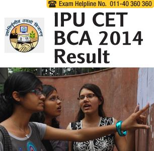 IPU CET BCA 2014 Result
