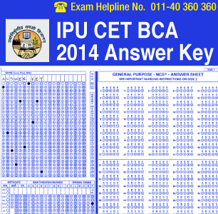 IPU CET BCA 2014 Answer Key