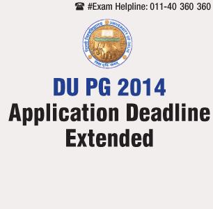 Delhi University extends PG 2014 application deadline till April 30