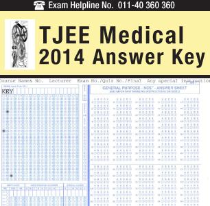 Tripura JEE Medical 2014 Answer Key