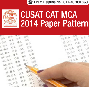 CUSAT CAT MCA 2014 Paper Pattern