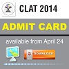 CLAT 2014 Admit Card available from April 25