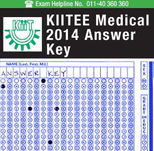 KIITEE Medical 2014 Answer Key