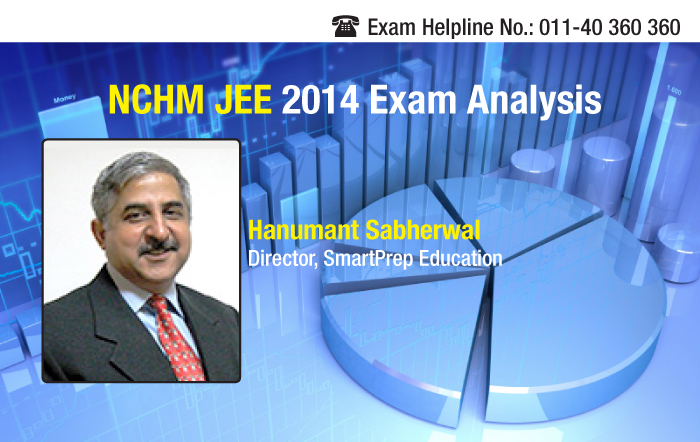NCHM JEE 2014 Exam Analysis by Hanumant Sabherwal, SmartPrep Education