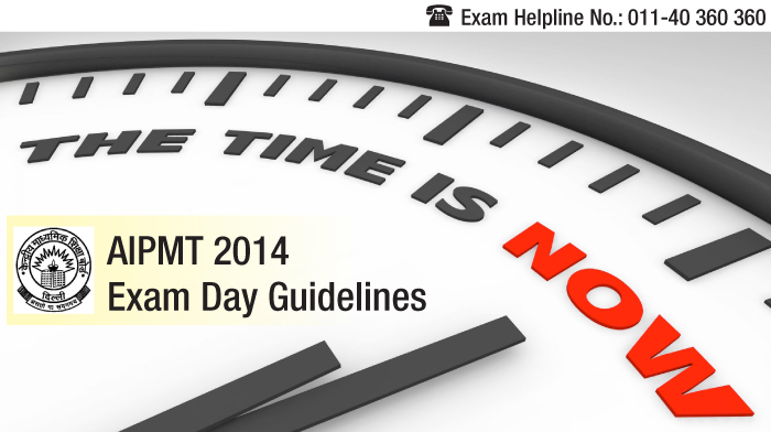 AIPMT 2014 Exam Day Guidelines