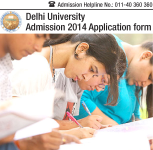 Delhi University 2014 Application Form
