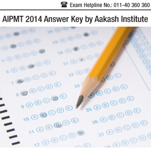 AIPMT 2014 Answer Key by Aakash Institute