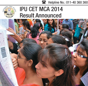 IPU CET MCA 2014 Result Announced- Check here